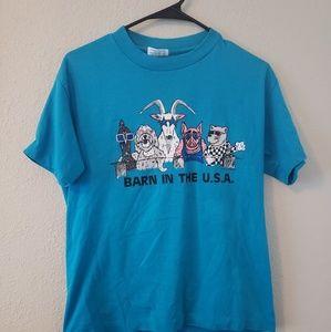 Vintage 80s barnyard bros t-shirt